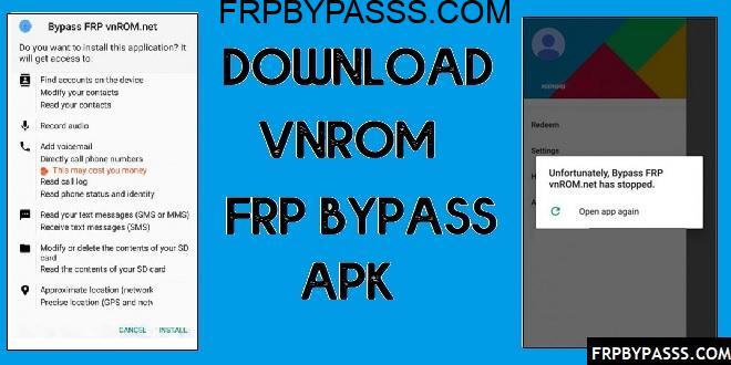 Download Vnrom FRP Bypass Apk 2020 | Unlock Google in One-Click